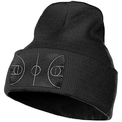Unisex 100% Acrylic Knit Cap, Comfortable Street Basketball Court Top View Skiing Hat for Women -