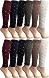 Womens Warm Winter Leg Warmers, Soft Colorful and Trendy (12 Pack B)