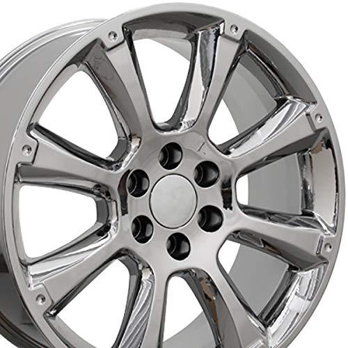 OE Wheels 22 Inch Fits Chevy Silverado Tahoe GMC Sierra Yukon Cadillac Escalade CA84 Chrome OEM 22x9 Rim Hollander 5410 ()