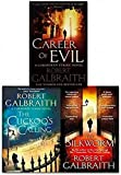 Cormoran Strike Series Robert Galbraith Collection 3 Books SET Collection (The Cuckoo's Calling, The Silkworm: 2, Career of Evil)