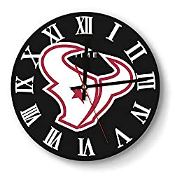MIWQU Design Houston-Texans-White-red- Style Wall Clock Decorative School Quiet Clock