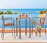 Solaura Outdoor Furniture 3 Piece Bistro Set High