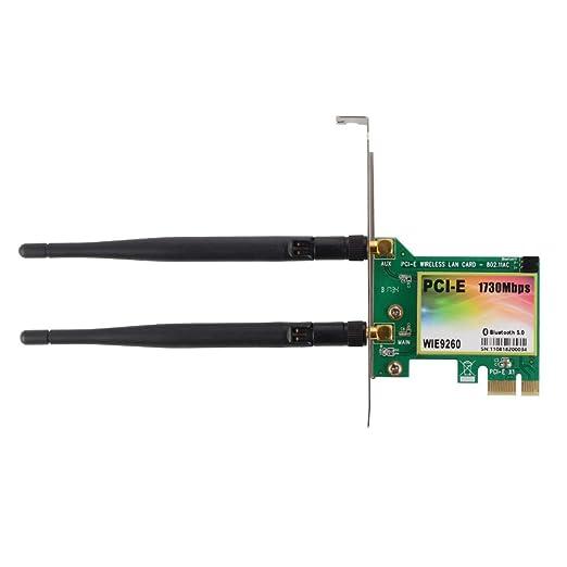 FlKath Tarjeta LAN inalámbrica WiFi PCI-E Adaptador Ethernet ...
