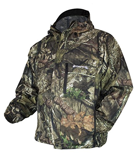 Raincoat Camouflage Mens (COMPASS 360 Men's Gale Camouflage Waterproof Rain Jacket (Mossy Oak Country, X-Large))