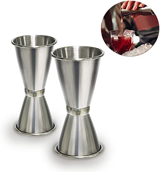 Stainless steel Measure Cup Spirit Cocktails Jigger Alcohol Bartending Tools