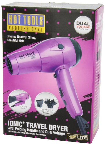 Hot Tools Professional Ht1044 Ionic 1875 Watt Travel Dryer with Folding Handle and Dual Votage by Hot Tools (Image #4)