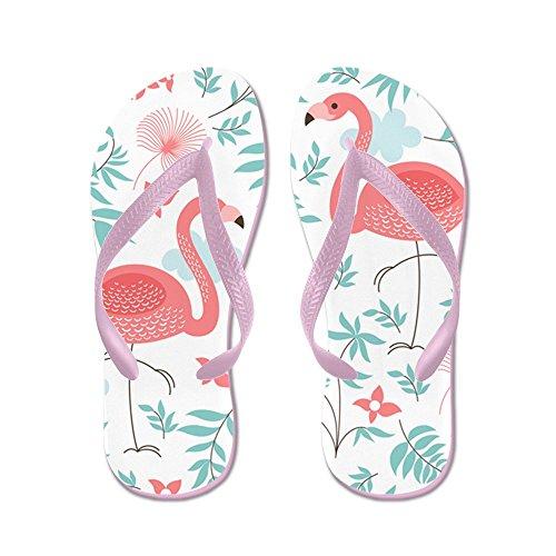 CafePress Pink Flamingos - Flip Flops, Funny Thong Sandals, Beach Sandals Pink