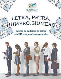 Letra, Petra, número, húmero | Libros de sudokus de letras ...