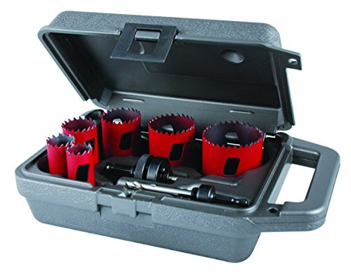 MK Morse MHS02L Bi-Metal Hole Saw Locksmith Kit, -