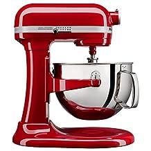 KitchenAid KL26M1XER Professional 6 quart Bowl-Lift Stand Mixer, Empire Red