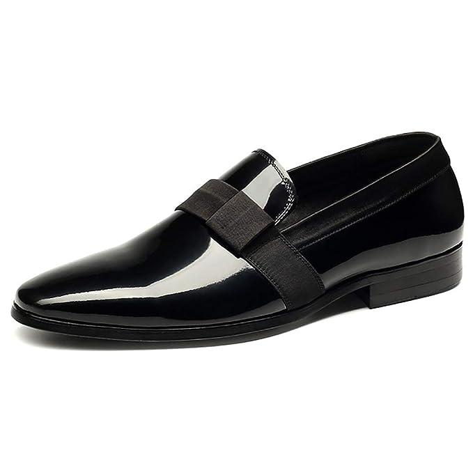 LYMYY Zapatos De Los Hombres, Formal De Los Hombres De Vestir Zapatos Casuales Vestido De Boda Negro Oficina De Trabajo Por La Noche Fiesta Mocasines: ...
