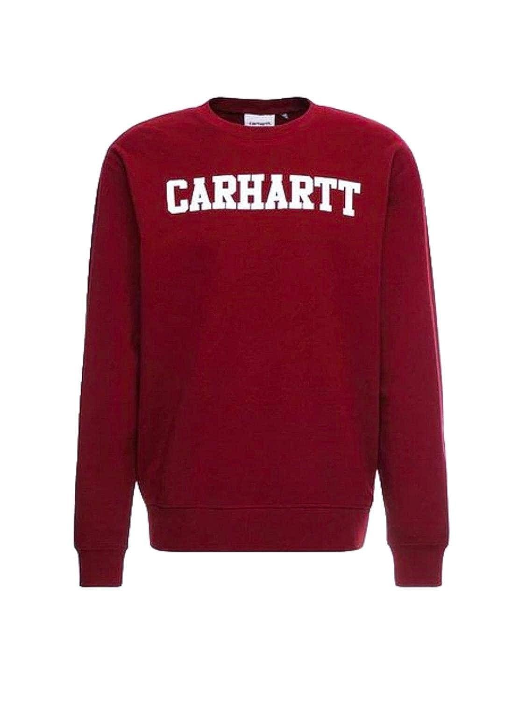Sweatpulli Carharrt College Sweat 100% Größe: S Farbe: mulbeer/wh