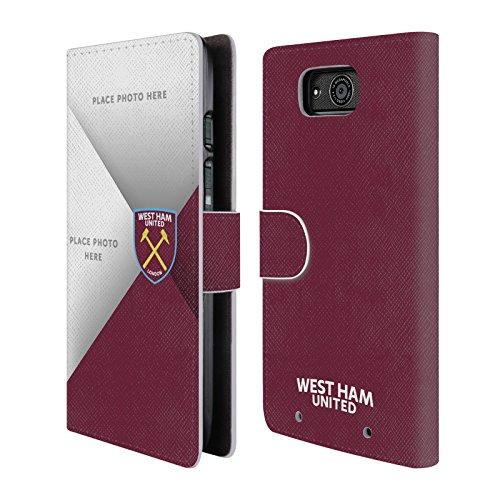 Custom Customized Personalized West Ham United FC Photo Cross 2017/18 Leather Book Wallet Case Cover For Motorola DROID