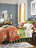 1891 by SFERRA Mai Tai 2-Piece Twin Duvet Set, Rouge