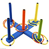 MAZIMARK-WTWY Kids Outdoor Sports Cast Ring Layer Up Throwing Game Ringtoss Toy