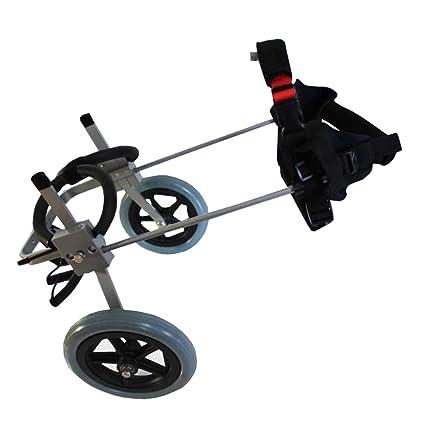 Silla De Ruedas para Perros, Rehabilitación De La Pierna Trasera Mascota Discapacitada Soporte Ajustable Scooter