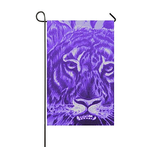 oking Fabric Animal Tiger Polyester Garden Flag Indoor Personalized (Personalized Scrapbooking)