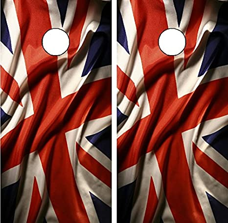 Amazon com: Avery C84 British Flag Cornhole Laminated Decal WRAP Set