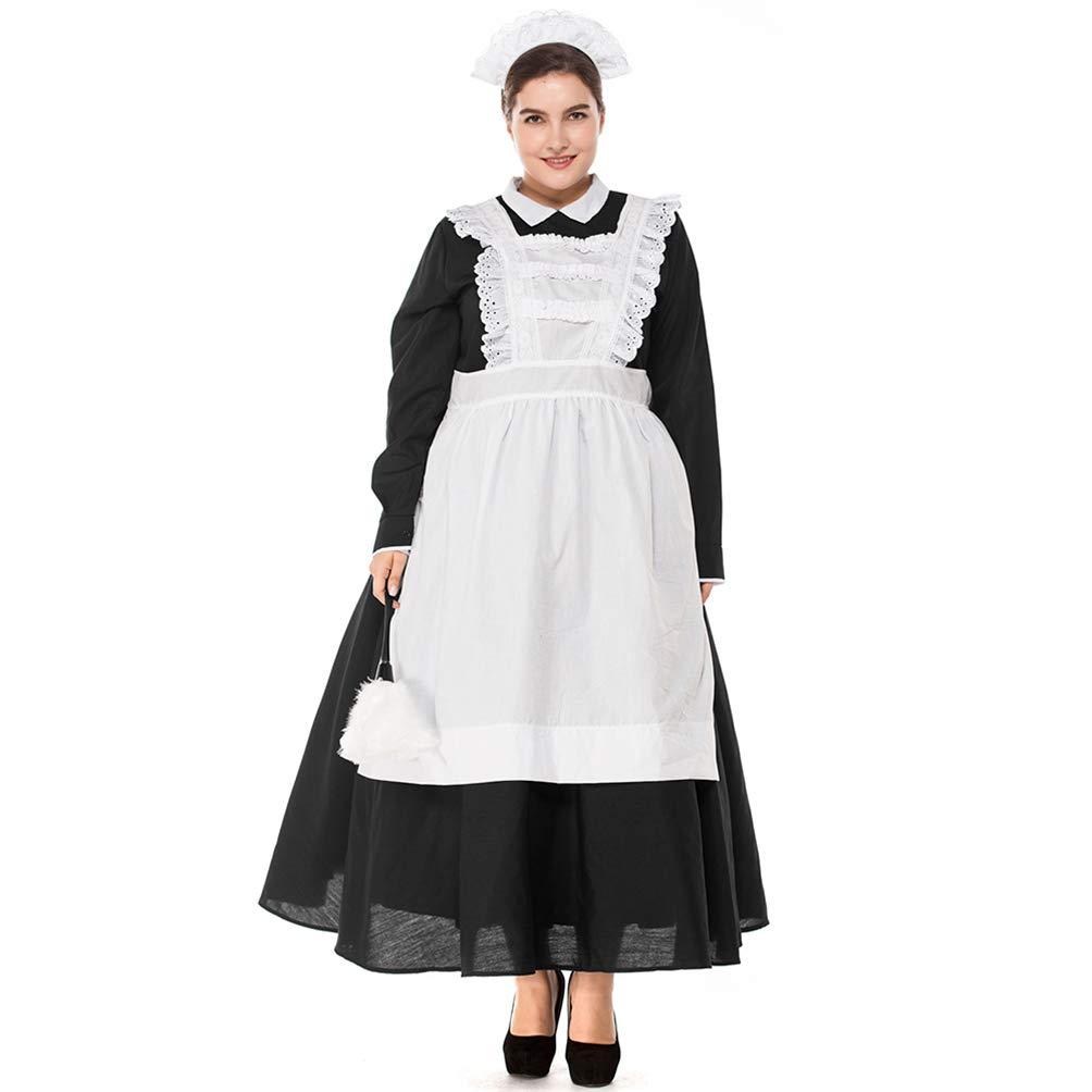 Britische Maid Cosplay Anzug Coffee Shop Kellnerin Halloween Kostüm (M) Bühnenshow Requisiten (M) Kostüm 14b6f2