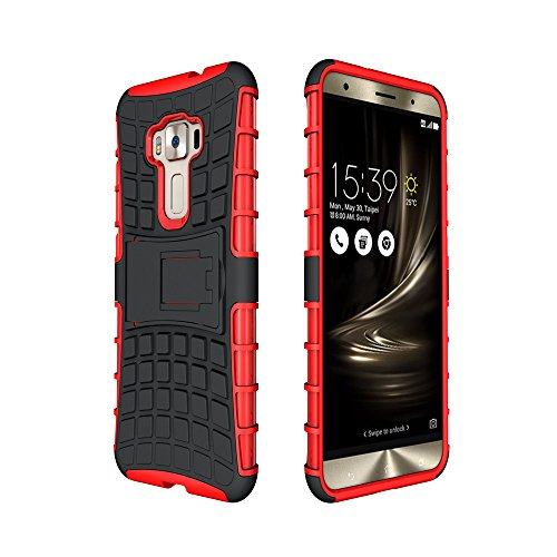 Slim Armor Case for Asus Zenfone 2 Laser 5.5 ZE550KL (Red) - 8