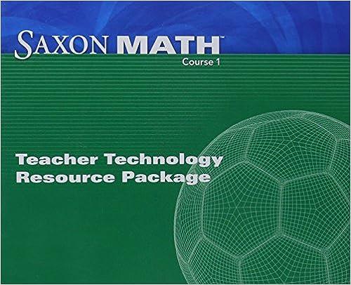 Amazon saxon math course 1 teacher technology pack saxon math course 1 teacher technology pack 1st edition fandeluxe Choice Image