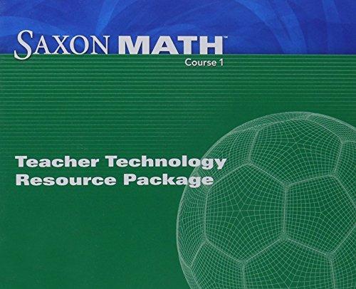 Saxon Math Course 1: Teacher Technology Pack