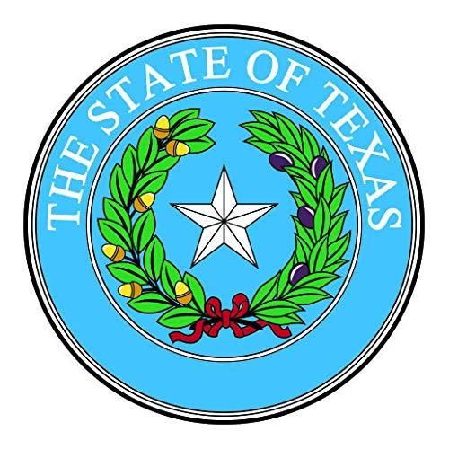 - RDW Texas State Seal Sticker Premium Decal Die Cut Lone Star Gods Country TX