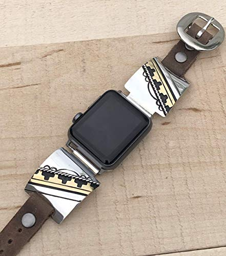 925 Sterling Silver Apple Watch Replacement Band, Signed by Rosita Singer and Hallmarked Authentic Navajo Native American USA Handmade, 38mm, 40mm, 42mm
