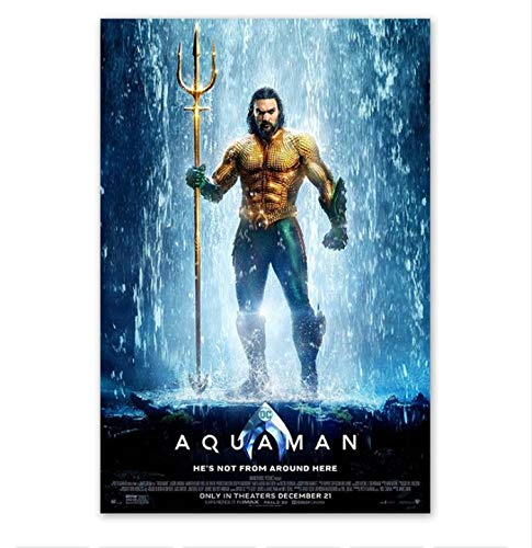 Aiopjkl Aquaman DC Cartel de la película Jason Momoa ...