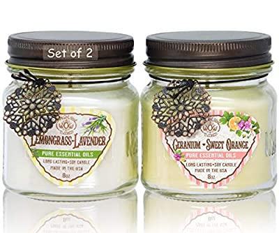 Way Out West Scented Jar Candles Gift Set of 2 Variety Pack
