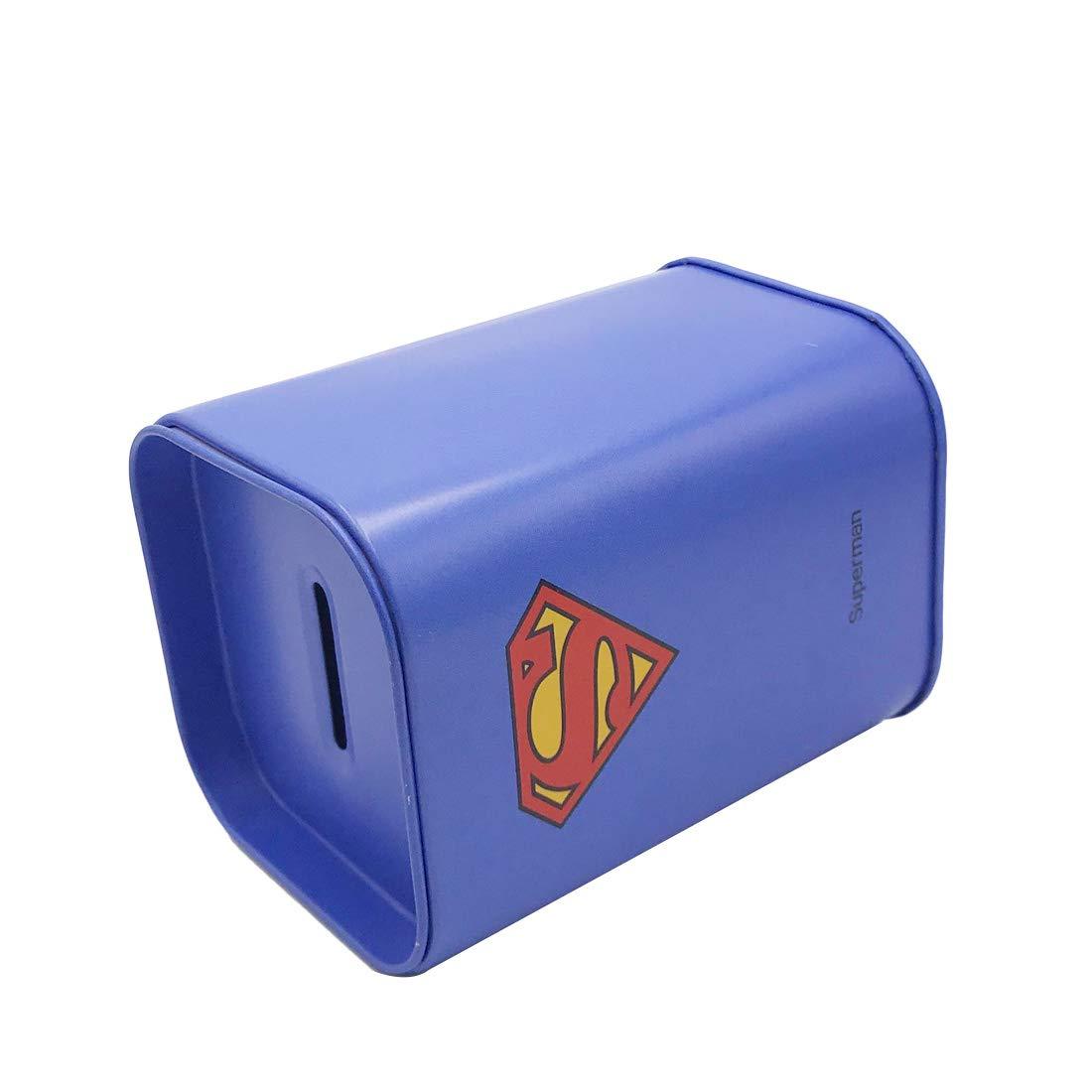 Captain America Ayiguri Superhero Creative Piggy Bank Metal Money Box Coin Bank Tin Can Piggy Bank Rectangular Cute Cartoon Childrens Gift Home Decoration