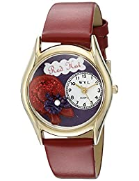 Whimsical Watches Unisex Kids C-0460001 Red Hat Quartz White Dial Watch