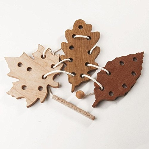 Wooden Lacing Toy Game set leaf Learning toy Threading set Fine Motor skills toy Handmade toys Educational Wooden Toy Montessori Toys