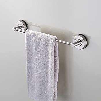KES Suction Cup Single Towel Bar SUS 304 Stainless Steel No Drill Wall  Mount Contemporary Bathroom Accessory Clothes Organizer Shelf Rack Brushed  Finish 40 ...