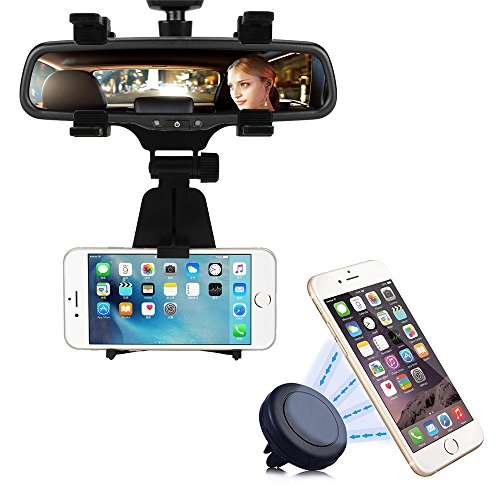 Cellular Phone Pda Smartphone - 2-in-1 Car Mount, INCART Car Rearview Mirror Mount + Air Vent Magnetic Mount Holder Cradle for iPhone 6/6s/5s, Samsung Galaxy S7/S7 edge/S6, Cell Phones, Smartphone, GPS / PDA / MP3 / MP4 devices