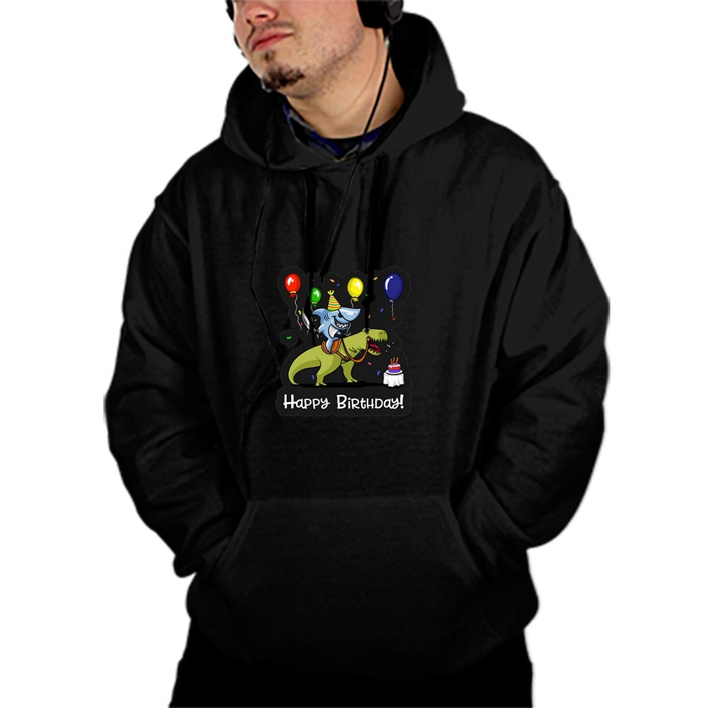 SHUIZHIQING Cute Cartoon Boston Terrier Cool Men Hooded Sweashirt Graphic Jacket Sweatshirt with Pockets