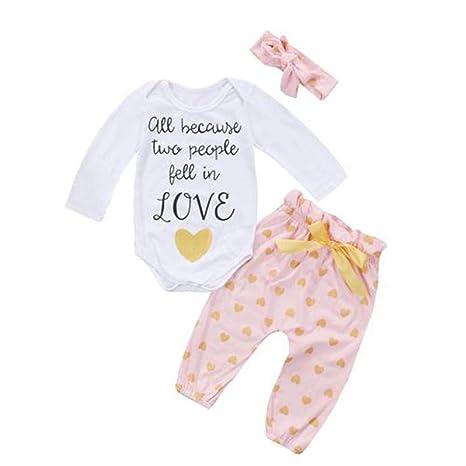 feiXIANG Ropa para bebés niños Primavera y Verano los niños recién Nacidos aman Estampados Tops de