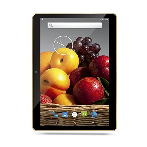 Bestenme 10 inch Tablet PC Octa Core 1280X800 IPS Bluetooth RAM 4GB ROM 64GB 8.0MP 3G Dual sim Phone Android 5.1 Lollipop (Black) by Bestenme