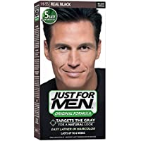 Just for Men Just for Men Shampoo-in Hair Color, Real Black 55, 1 Application (pack Of 3), 3 Count