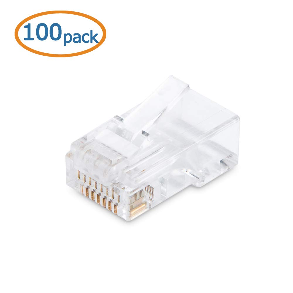Cable Matters 100 Pack Cat 6 Cat6 Rj45 Modular Plugs Wiring Up Plug For Stranded Utp Computers Accessories
