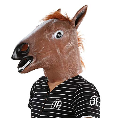 Horse Head Mask Latex Animal Costume Prop Gangnam Style Toys Party -