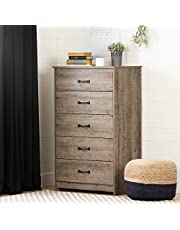 South Shore Furniture 12230 Tassio 5-Drawer Chest, Weathered Oak