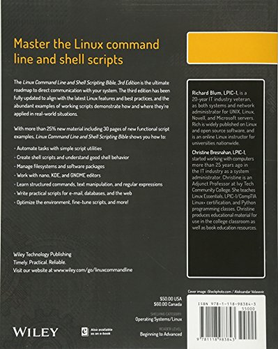 Linux Command Line And Shell Scripting Bible Import It All
