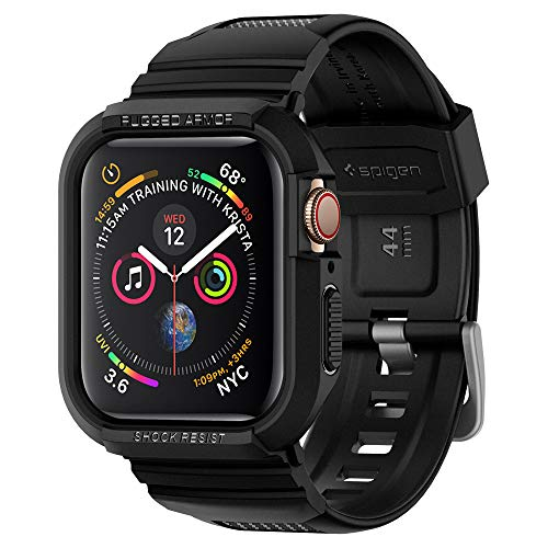 Spigen Rugged Armor Pro Designed for Apple Watch Case for 44mm Series 4 (2018) - Black