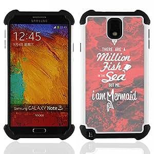 King Case - mermaid red dating motivational love - Cubierta de la caja protectora completa h???¡¯???€????€?????brido Body Armor Protecci?&