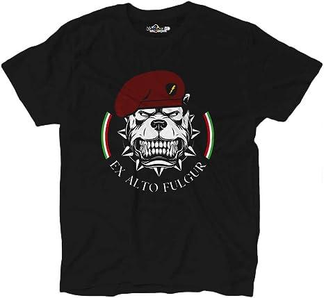 KiarenzaFD - Camiseta Camiseta Military ejército folgore Italia Army Bull Dog Paracadutisti: Amazon.es: Deportes y aire libre