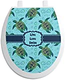 RNK Shops Sea Turtles Toilet Seat Decal - Round (Personalized)