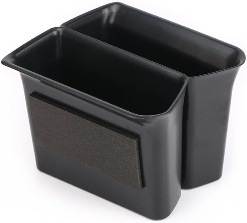 Vesul Black Front Row Door Side Storage Box Handle Pocket Armrest Phone Container Fits on VW Volkswagen Atlas 2018 2019 2020