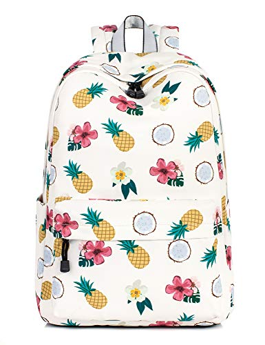 School Bookbags for Girls, Cute Pineapple Backpack College Bags Women Daypack Travel Bag by Leaper (Beige) by Leaper