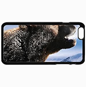 Customized Cellphone Case Back Cover For iPhone 6 Plus, Protective Hardshell Case Personalized Bear Black